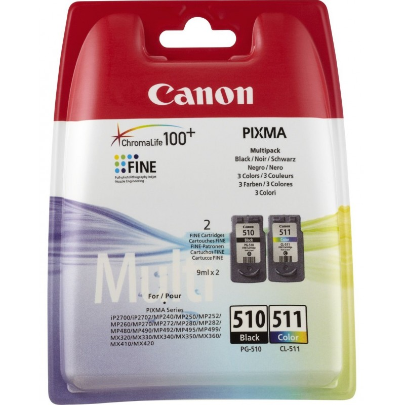 Tinta Canon 510+511 Multipack PG-510/CL-511