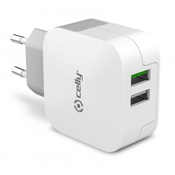 Cargador USB Celly Turbo 3.4A x2