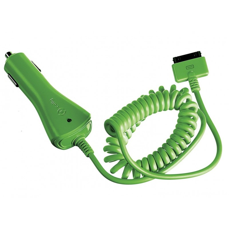 Cargador de Coche para Apple Celly Verde