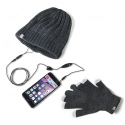 Touch gloves and hat Celly Gray Headset