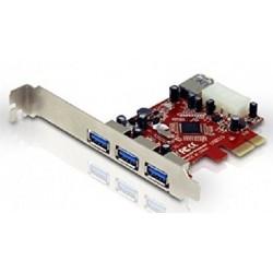Tarjeta PCIe 3+1 Puertos USB 3.0 Conceptronic