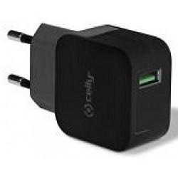 Cargador USB Celly Turbo 2.4A Negro