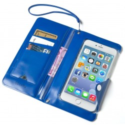 Funda y Billetero para Smartphone Celly Azul