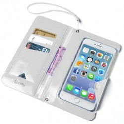 Funda para Smartphone Cartera Celly Blanca