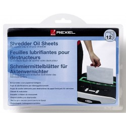 Lubricants sheets Rexel Shredders x12