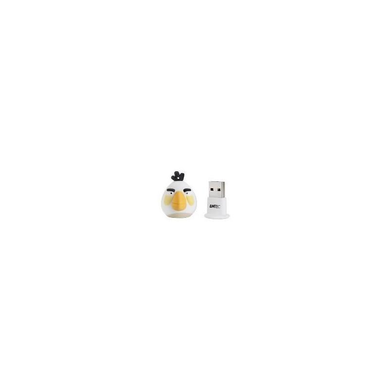 Emtec Pendrive 4Gb Angry Birds Blanco