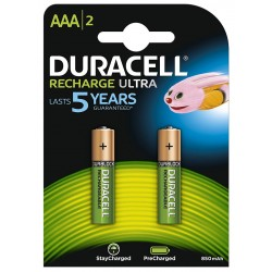 Pila Recargable AAA Duracell 2 Unidades