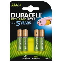 Pila Recargable AAA Duracell 4 Unidades