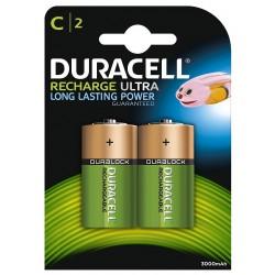 Pila Recargable C Duracell 2 Unidades