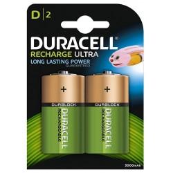 Pila Recargable D Duracell 2 Unidades