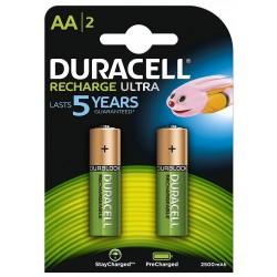 Pila Recargable AA Duracell 2 Unidades