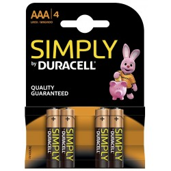 Pila AAA Duracell Simply 4 Unidades