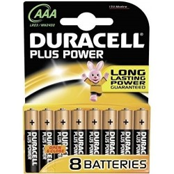 Pila AAA Duracell Plus Power 8 Unidades