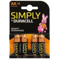 Pila AA Duracell Simply 4 Unidades