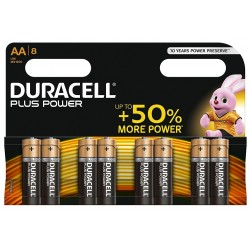 Pila AA Duracell Plus Power 8 Unidades