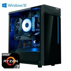 Ordenador Gaming Gigabyte Cristal Ryzen 7 (RYZEN 7 3700X / 16GB / SSD500+2TB / GT710 / 850W / W10P)