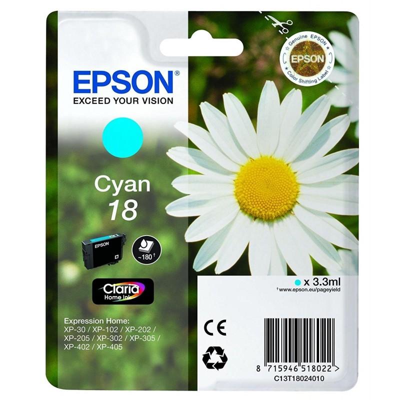 Tinta Epson 18 Cian T1802