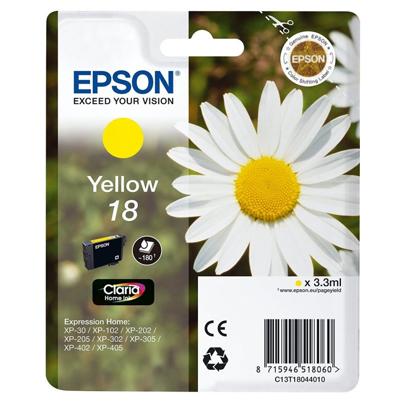 Epson T1804 Yellow Ink 18