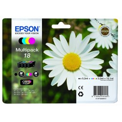 Epson 18 Pack of 4 Colors T1806