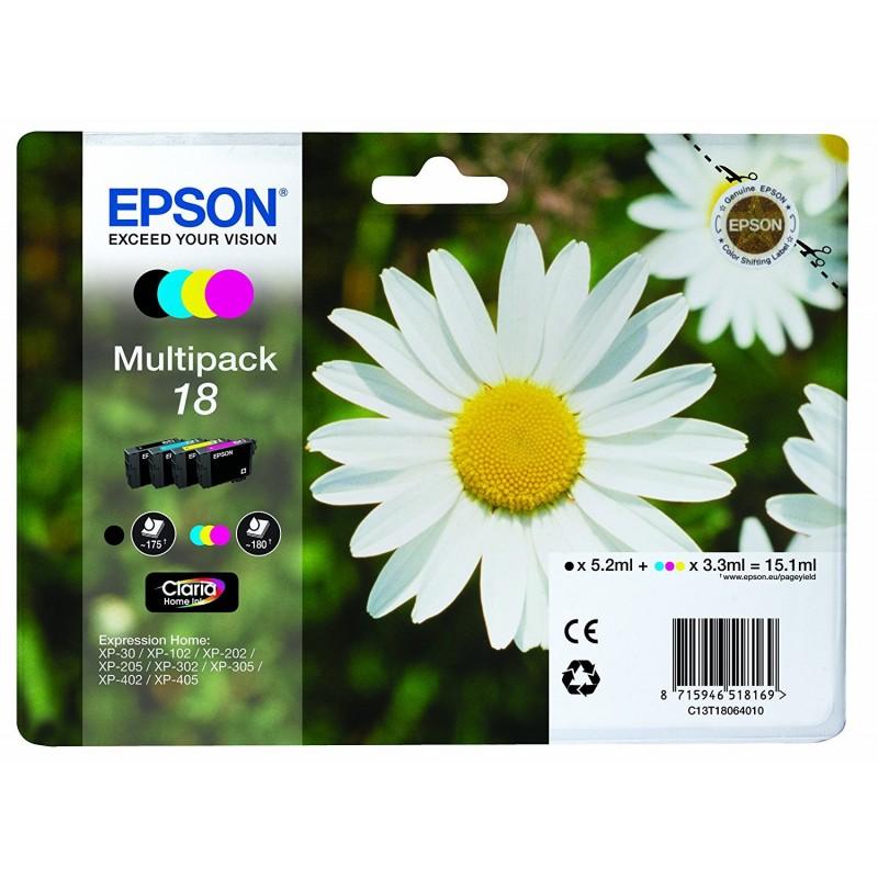 Tinta Epson 18 Pack de los 4 Colores T1806