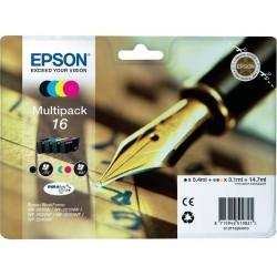 Tinta Epson 16 Pack de los 4 Colores T1626