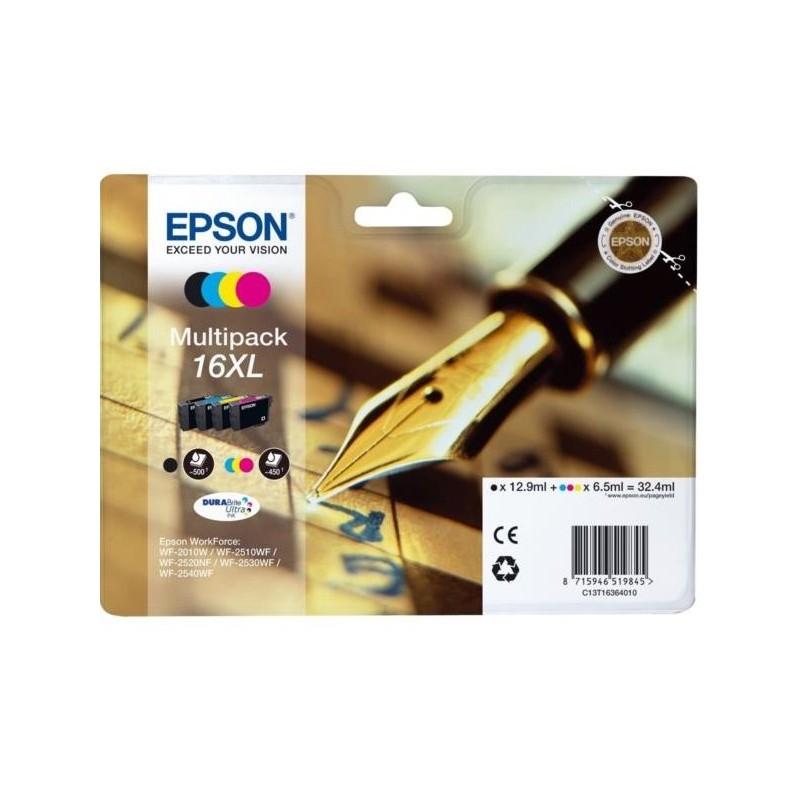 Tinta Epson 16XL Pack de los 4 Colores T1636