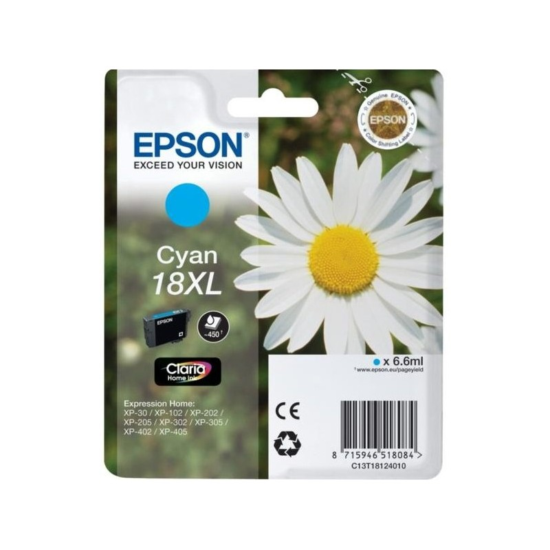 Tinta Epson 18XL Cian T1812