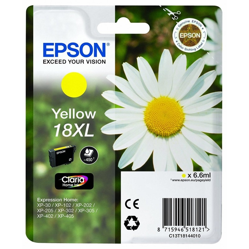 Epson T1814 Yellow Ink 18XL