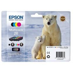 Tinta Epson 26 Pack de los 4 Colores T2616