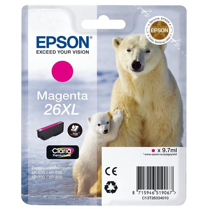 Tinta Epson 26XL Magenta T2633