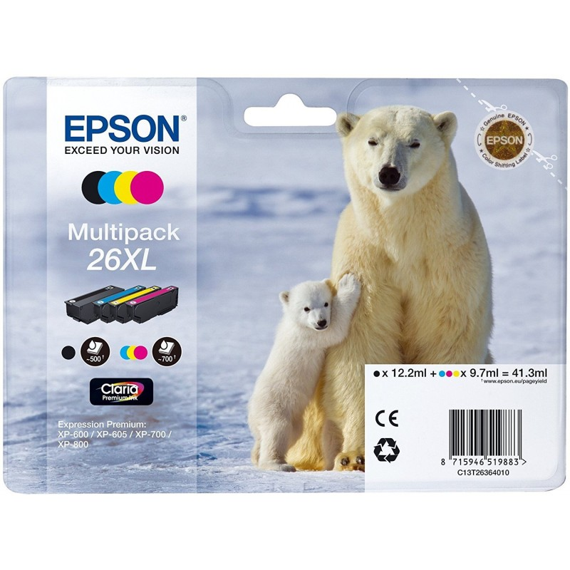 Epson 26XL Ink Pack 4 Colors T2636