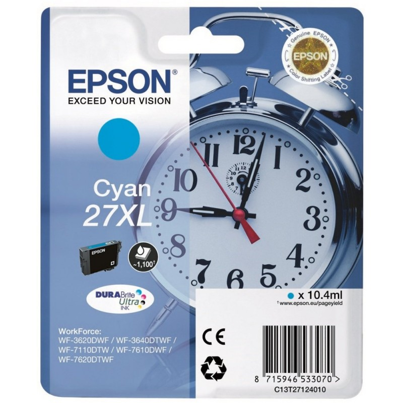 27XL Ink Epson T2712 Cian