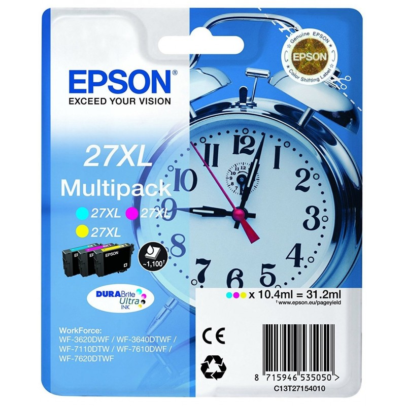 Tinta Epson 27XL Pack de los 3 Colores T2715
