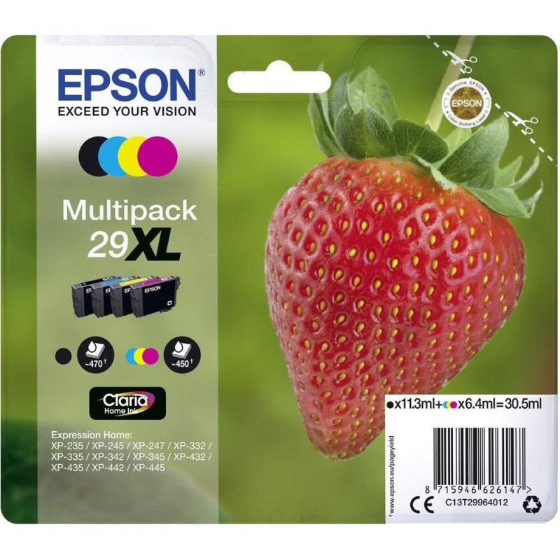 Epson 29XL Ink Pack 4 Colors T2996