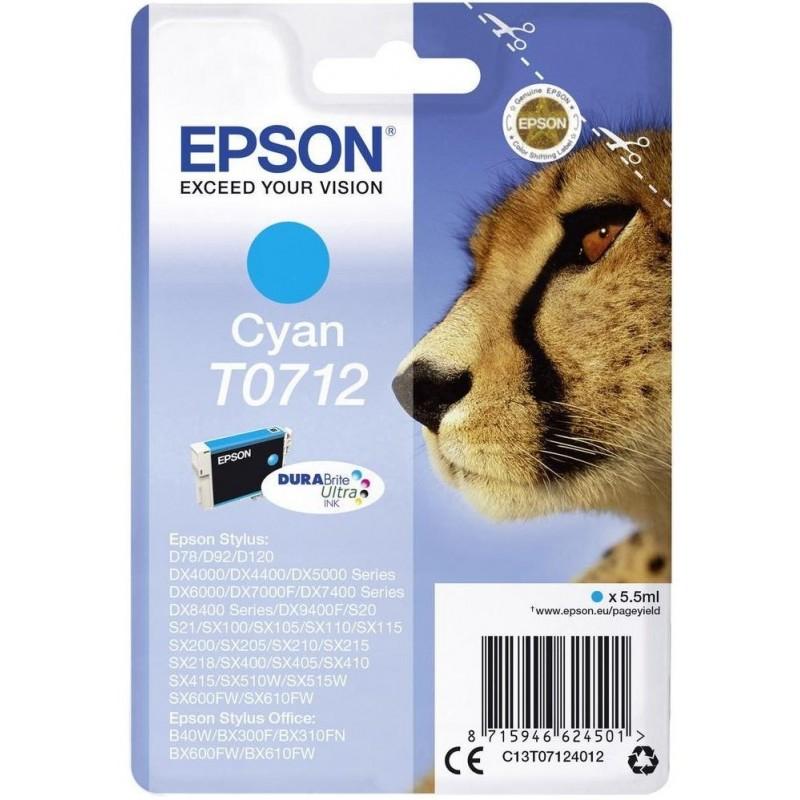 Tinta Epson T0712 Cian