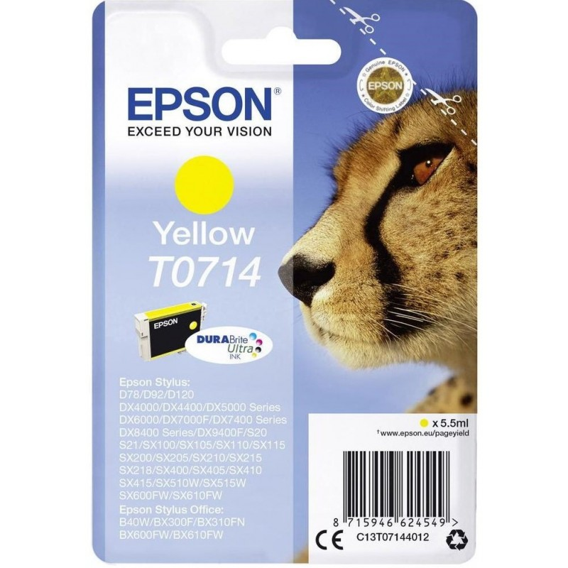 Tinta Epson T0714 Amarillo