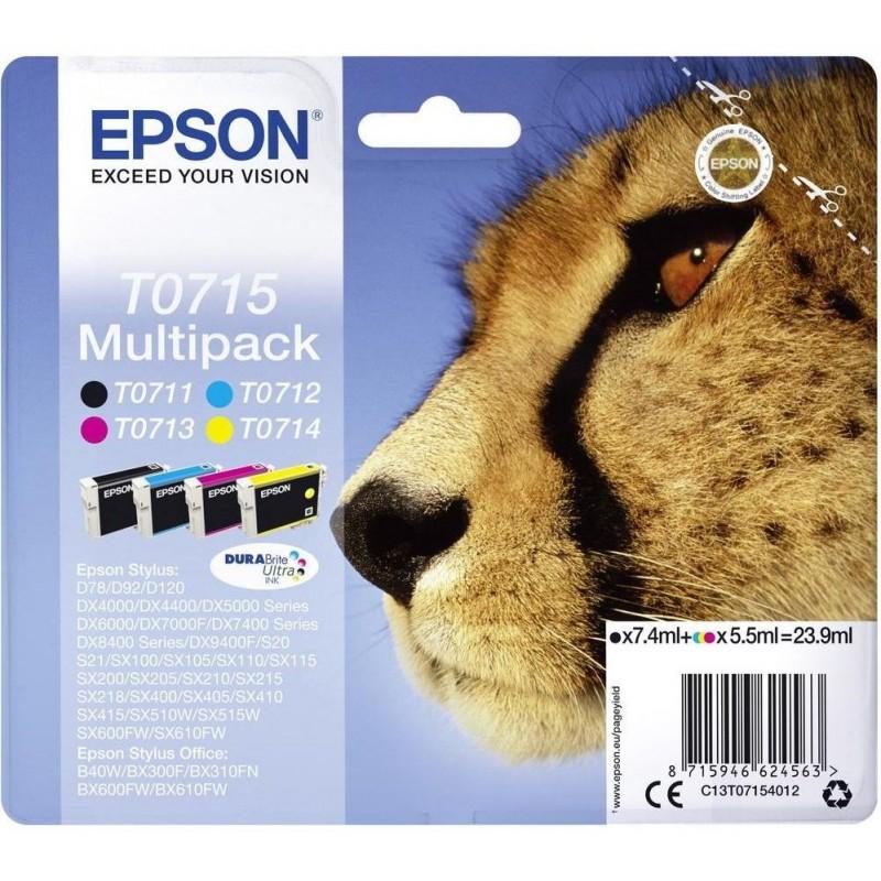 Tinta Epson T0715 Pack de los 4 Colores
