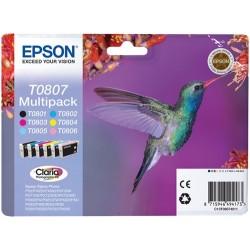 Tinta Epson T0807 Pack de...