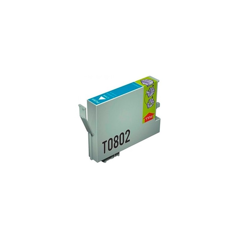 Tinta Compatible Epson T0802 Cian