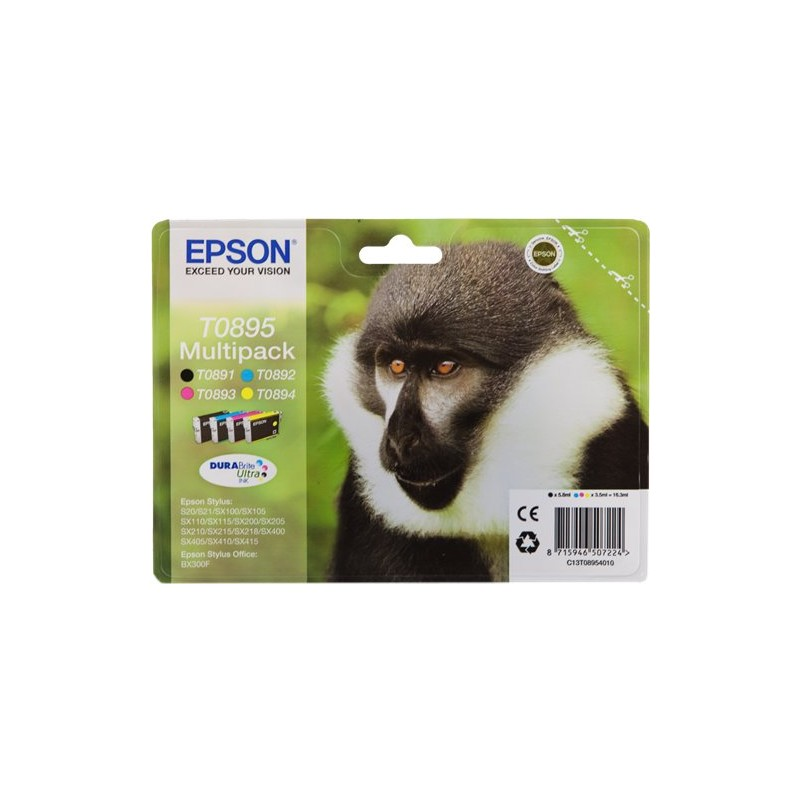 Epson T0895 ink pack 4 colors