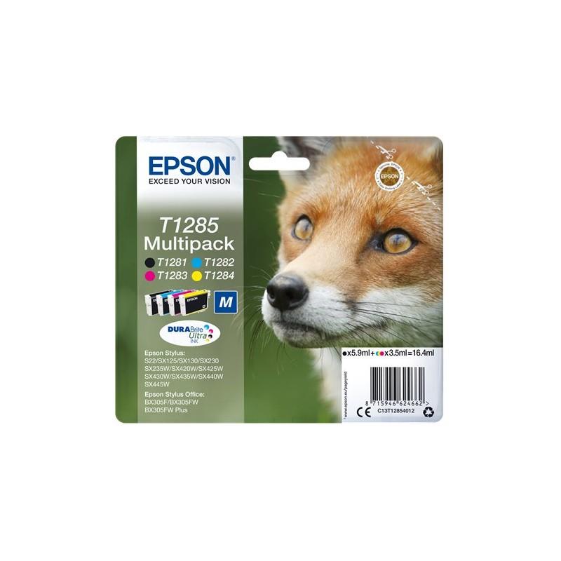 Tinta Epson T1285 Pack de los 4 Colores