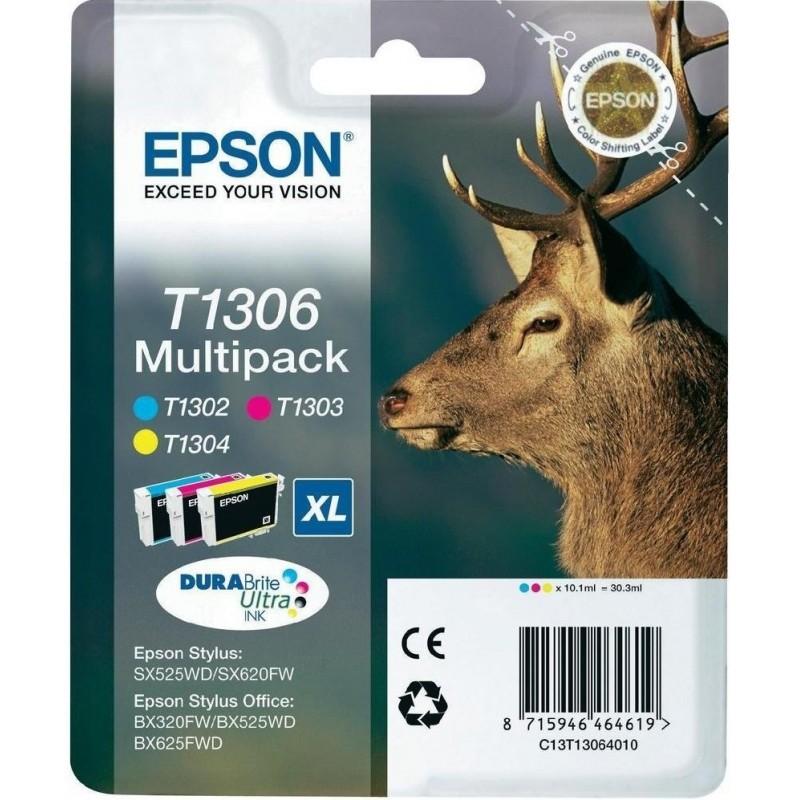 Tinta Epson T1306 Pack de los 3 Colores