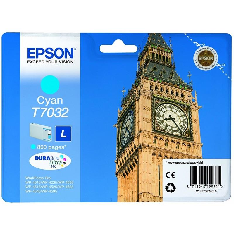 Tinta Epson T7032 Cian