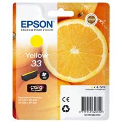Tinta Epson 33 Amarillo T3344