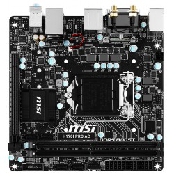 MSI motherboard H170I PRO AC