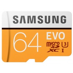 Tarjeta MicroSD 64GB Samsung Evo
