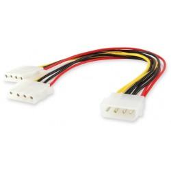 Cable Duplicador Molex 4 Pin M a 2x 4 Pin H Equip