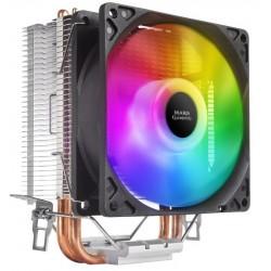 Disipador de CPU Mars Gaming MCPUARGB ARGB TDP 90mm Negro