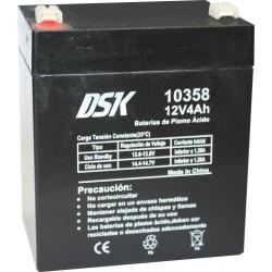 Batería de Plomo Ácido 12v 4Ah DSK 10358 Negra
