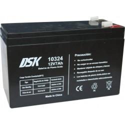Batería de Plomo Ácido 12v 7Ah DSK 10324 Negra